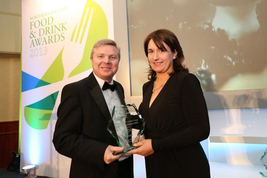 Elaine Shaw pictured with  Noel Laverry Permanent Secretary DARD