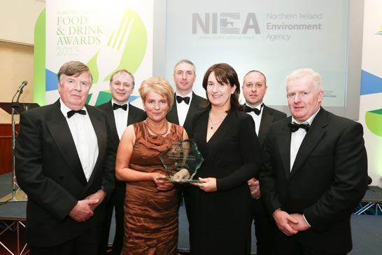 Northway representatives  at the awards ceremony – front row – George McGuiness, Mary Fegan, Elaine Shaw, Gerard Fegan, Back row  - David Dallas, Frank Donnelly, Declan McKeever.